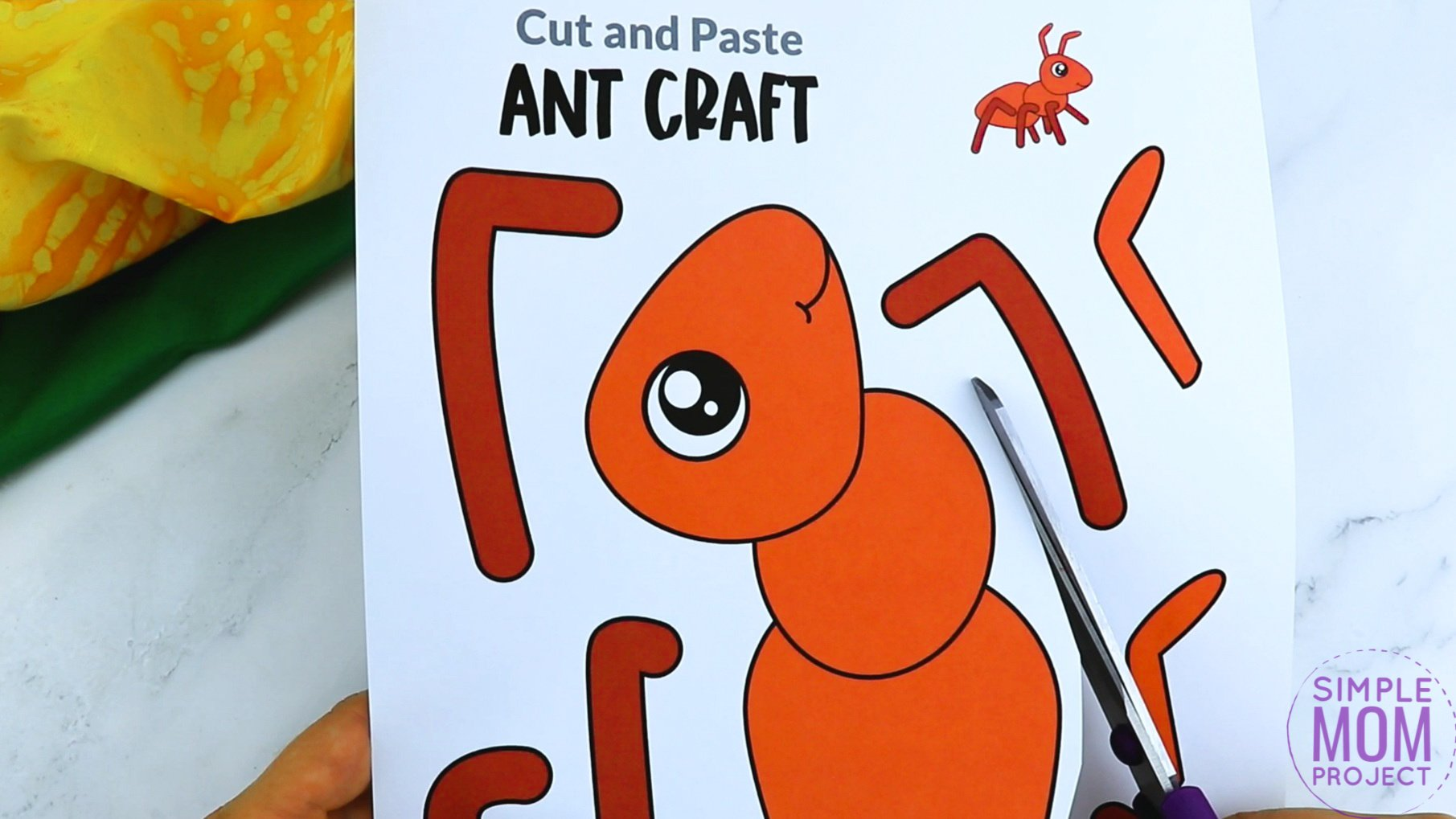 Free Printable Ant Craft for Kids, preschoolers and toddlers