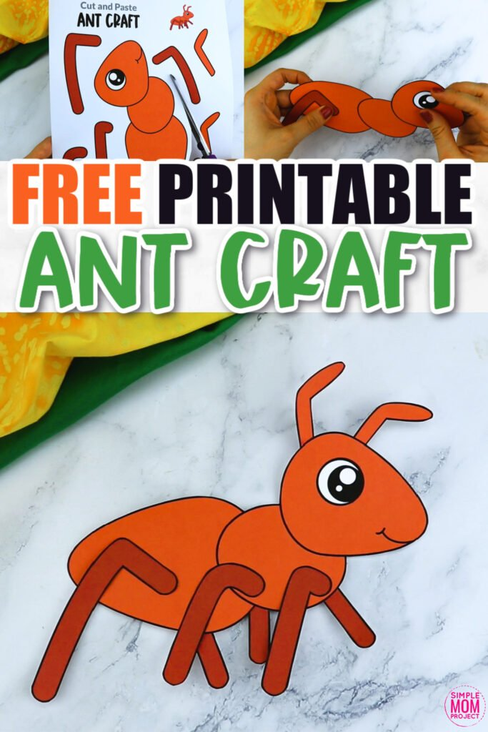 Click now for a simple way to teach the letter A in the alphabet, click now to download and print this red ant craft today! This bug craft is an easy preschool, kindergarten or toddler printable picnic ant craft! Turn it into a walking ant with brads or glue to a paper bag to turn into a puppet. Options for this ant craft are endless!
