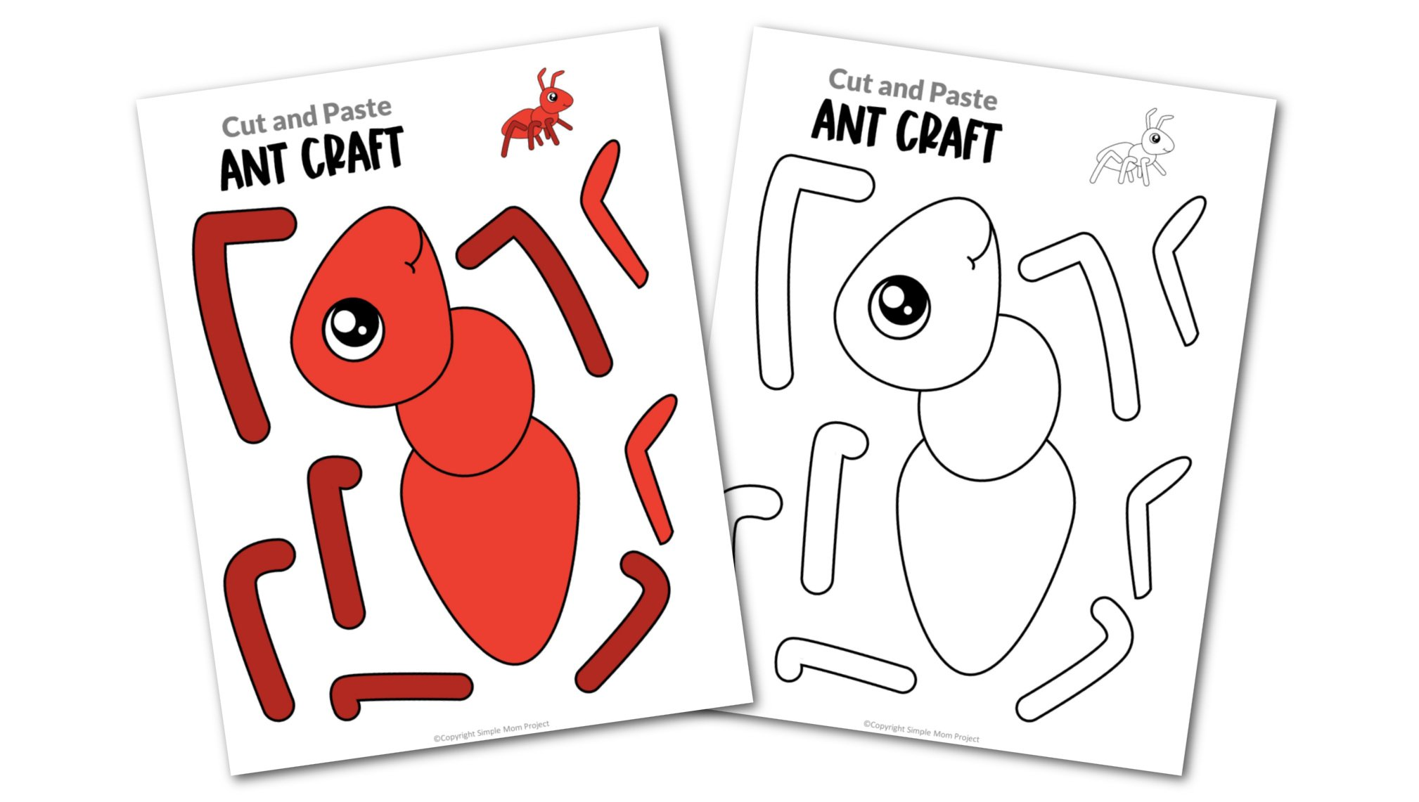 Free Printable Ant Craft Template Simple Mom Project