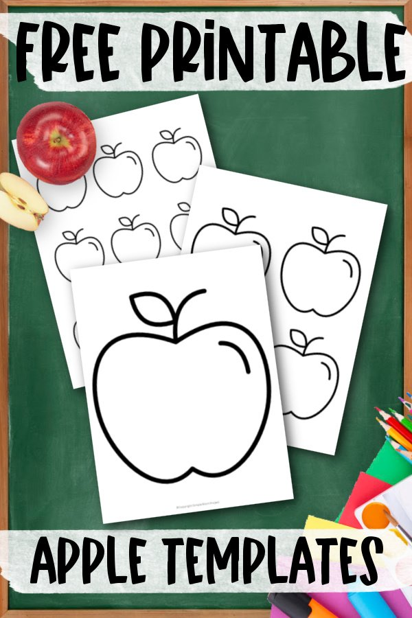 Add some fun to your fall and summer apple crafts with this simple & free printable apple templates. What a great idea for use as an apple stencil printable, apple coloring page or even an apple wall decoration for your room. Preschoolers & toddlers share so much fun using these apple templates as cards for their friends. Want to add a delicious looking apple template to your printables today, click here and grab your copy.
