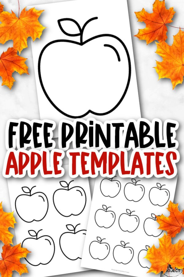 Free Printable Apple Template for Fall Crafts, Autumn Apple Crafts, Teacher Appreciation Crafts 3