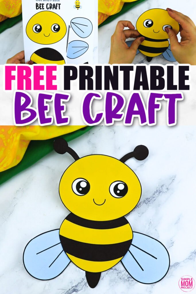 Click now for a simple way to teach the letter B in the alphabet, click now to download and print this easy bumble bee craft today! This bug craft is an easy preschool, kindergarten or toddler printable bee craft! Turn it into a puppet by using recycled materials and gluing the bee template to a paper plate or Popsicle stick. Options for this bumble bee craft are endless!