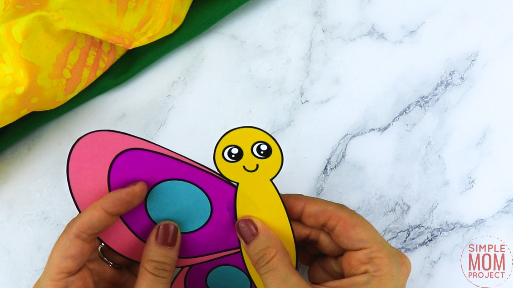 Free Printable Butterfly Craft for Kids, preschoolers and toddlers