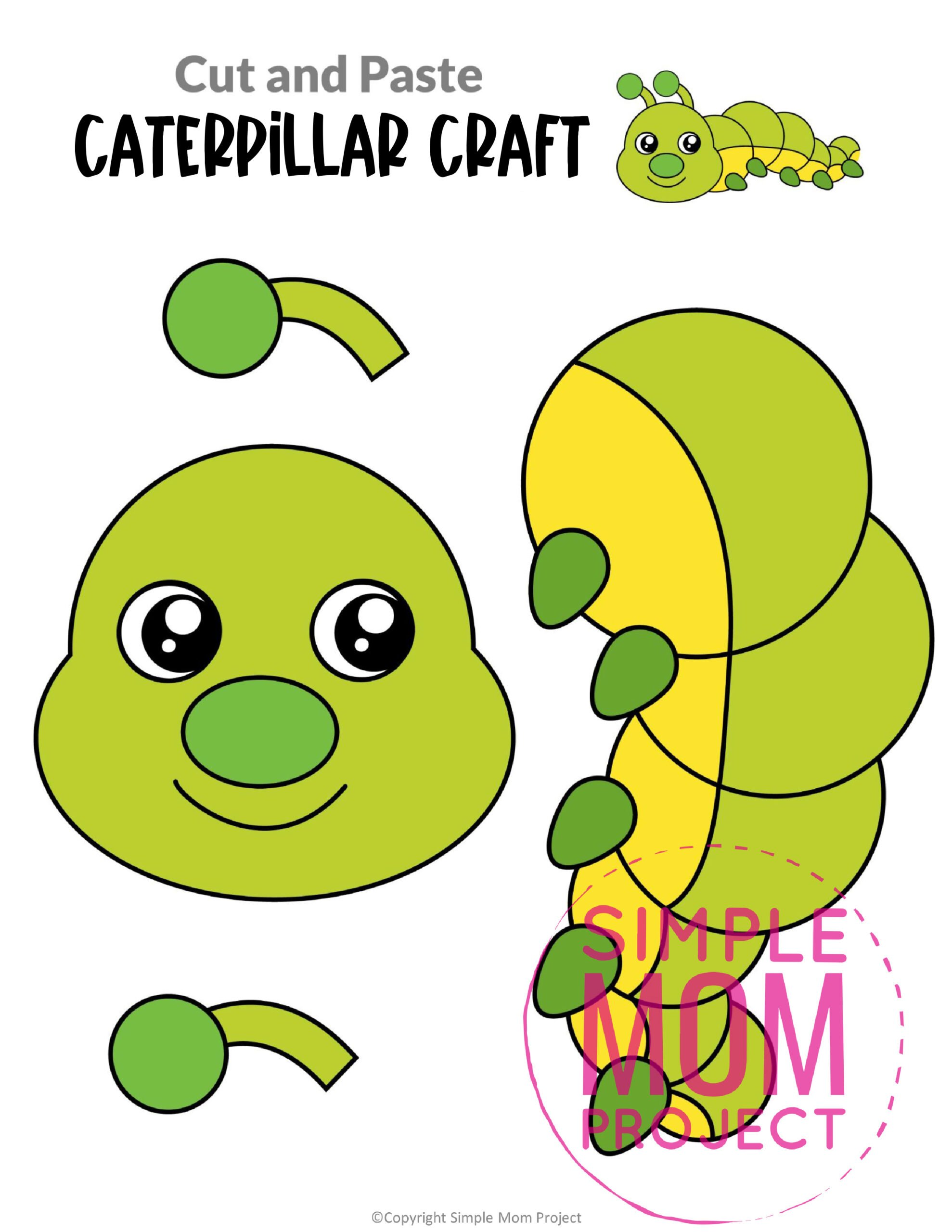 Printable Caterpillar Craft for Kids, preschoolers and toddlers