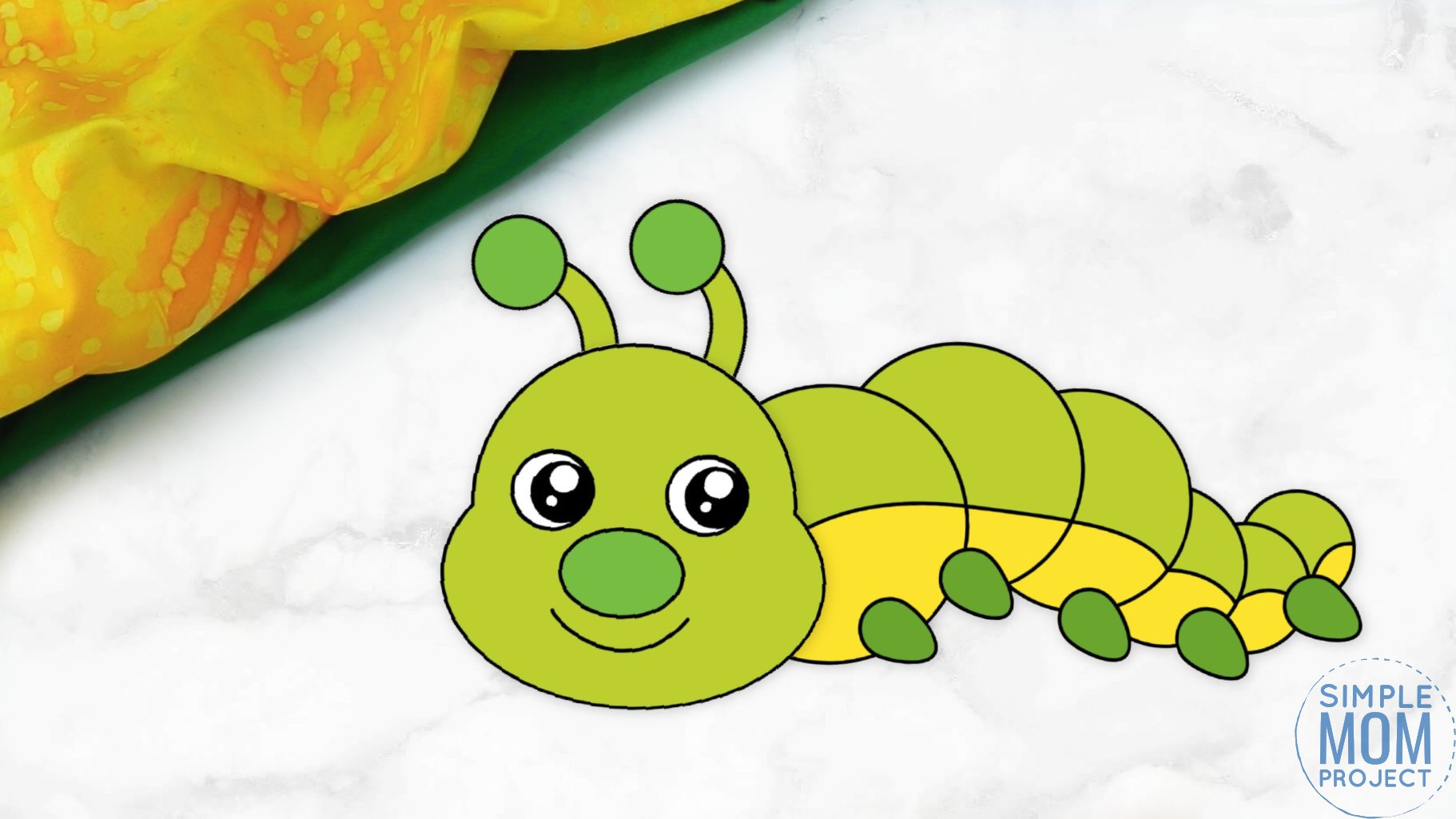 Free Printable Caterpillar Craft for Kids, preschoolers and toddlers