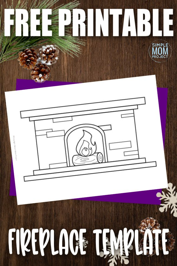 Are you looking for a simple fireplace outline or brick fireplace paper craft? Click to download and print the diy fireplace decoration, color it and turn it into a banner this winter! Kids of all ages will love to color and decorate the fireplace and display it on the mantel for all to enjoy!
