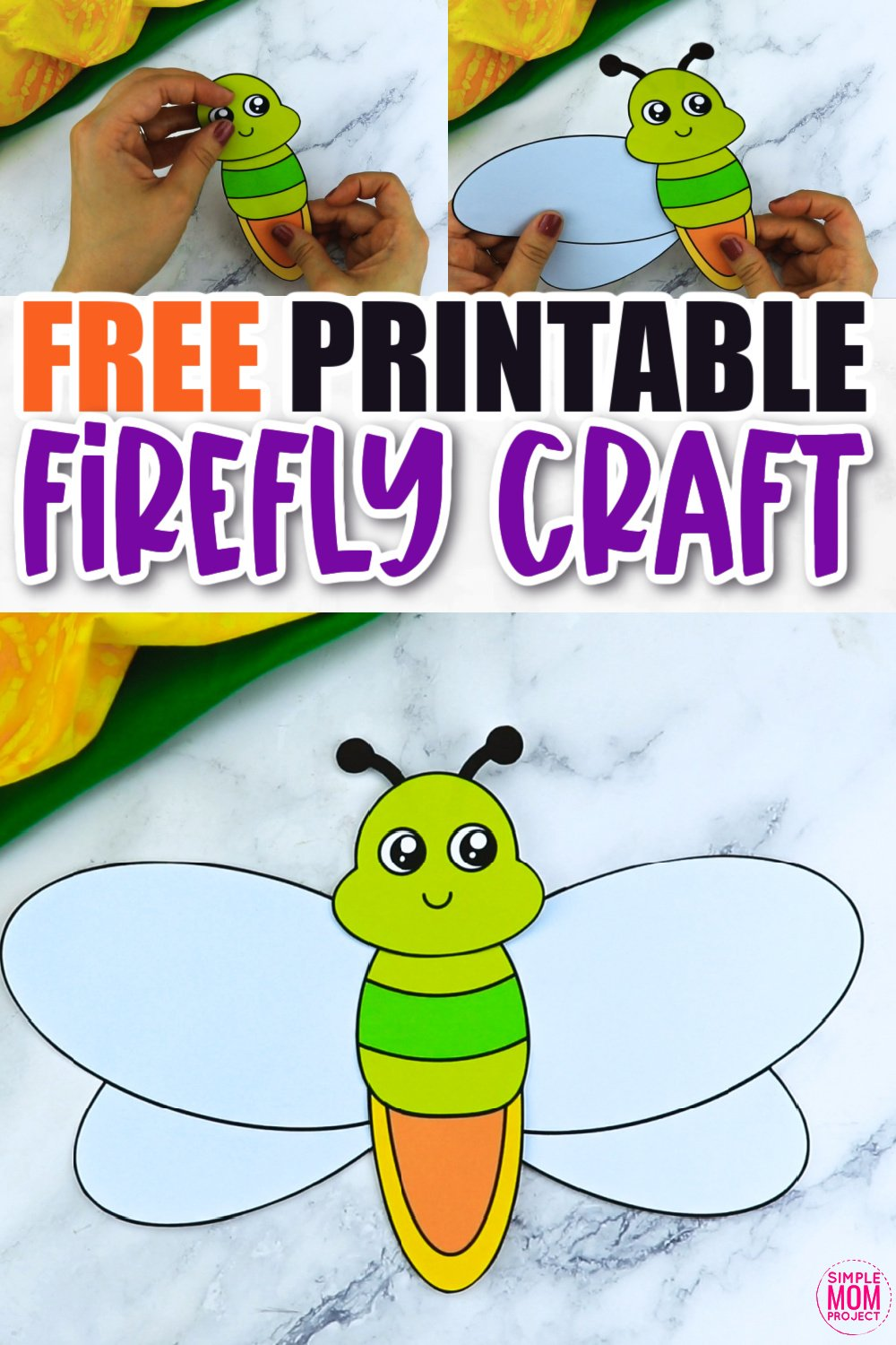 Free Printable Firefly Craft for Kids, preschoolers and toddlers