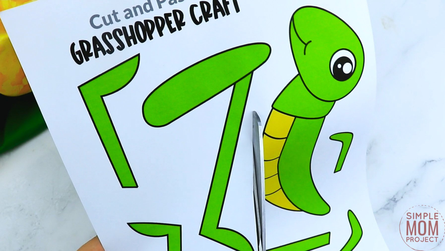 Free Printable Grasshopper Craft for Kids, preschoolers and toddlers