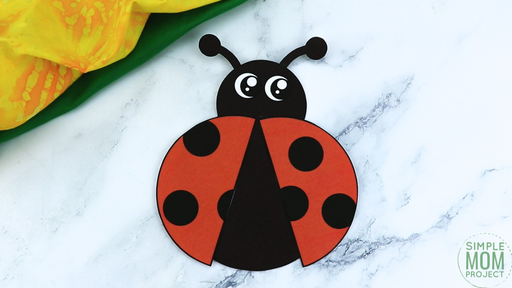 Free Printable Ladybug Craft for Kids, preschoolers and toddlers