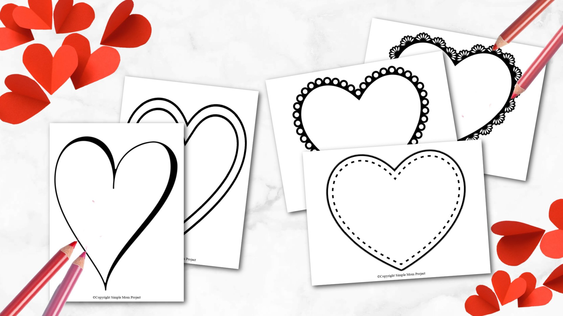Free Printable Large Shape Heart Template heart stencil heart cut out heart outline