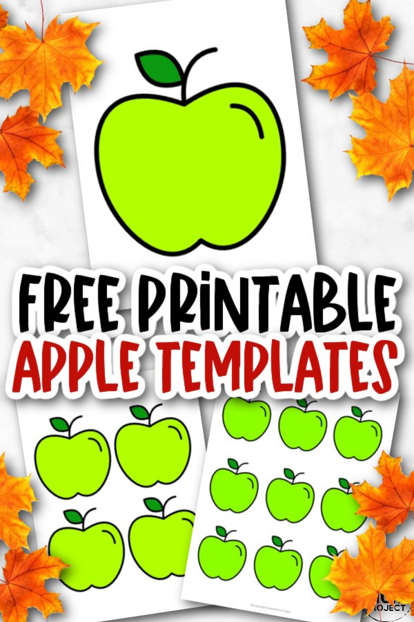 Free Printable Large Small Medium Red Apple Template for Fall Crafts, Autumn Apple Crafts, Teacher Appreciation Crafts 5