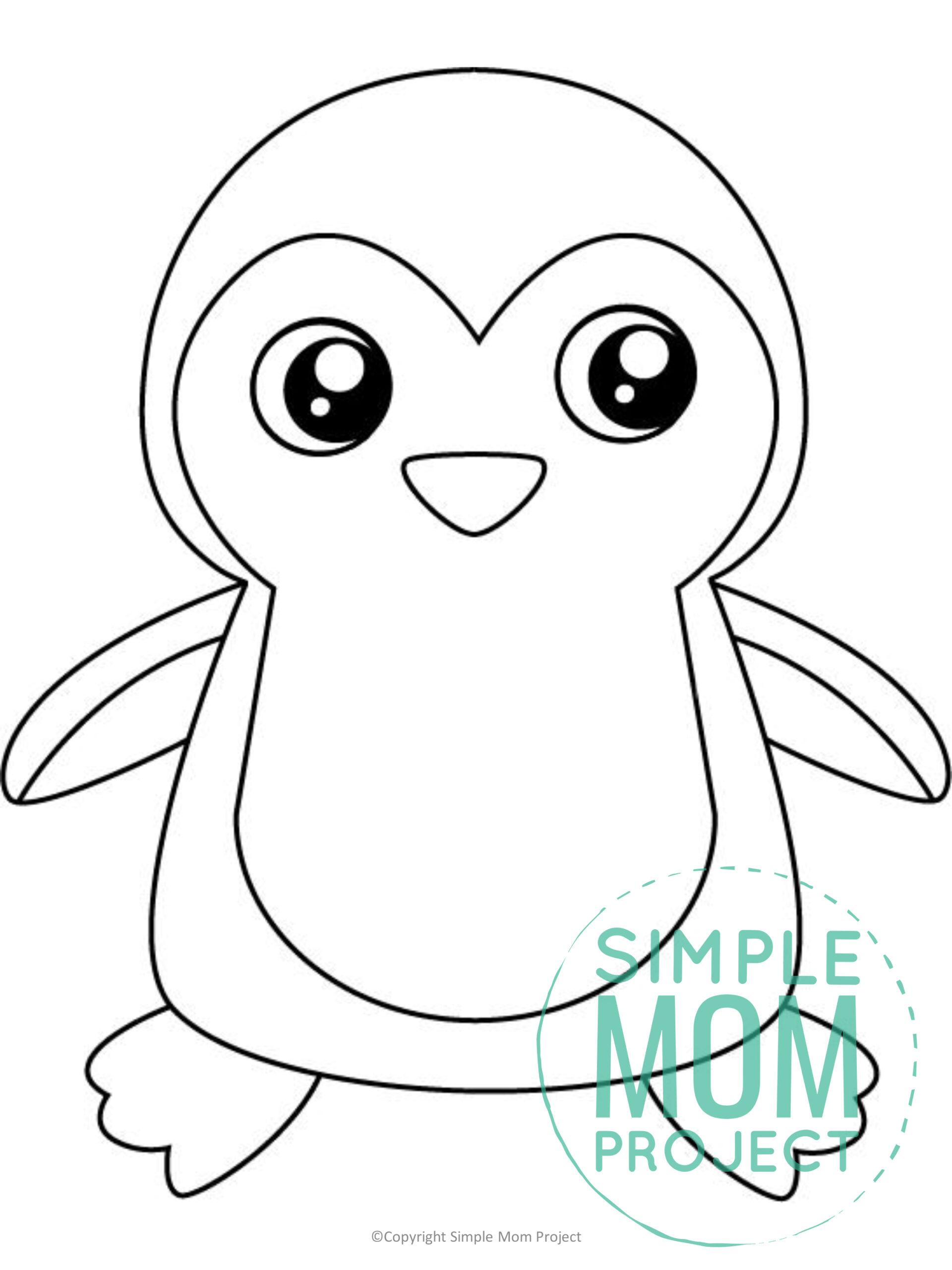 Printable Penguin Template for kids preschoolers toddlers
