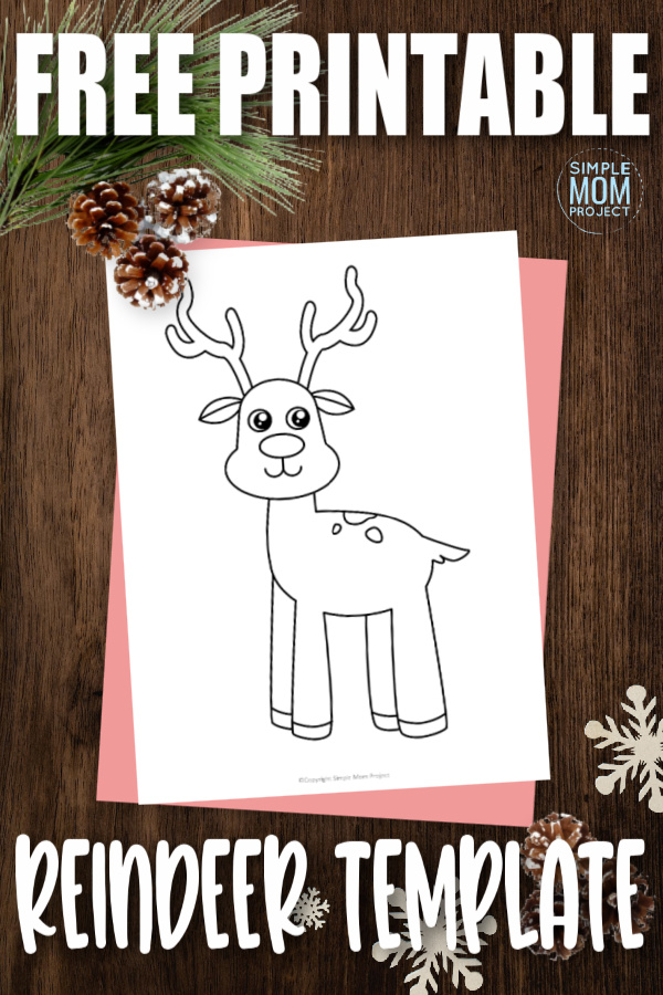 Reindeers are so cute! While snowflakes are flying, use this easy reindeer printable cut out on your next diy winter craft. The plush like reindeer template makes a simple coloring page or a fun sewing reindeer pattern. Click now to download and print the free reindeer template now.