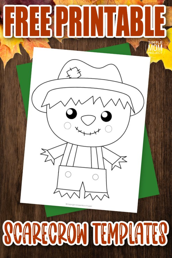 Are you looking for a simple and cute printable preschool or kindergarten autumn activity? These easy scarecrow templates are just the thing! Cut them out and glue the scarecrow outline to a paper plate or a paper bag. You can even turn your classroom bulletin board with these friendly pumpkin templates!