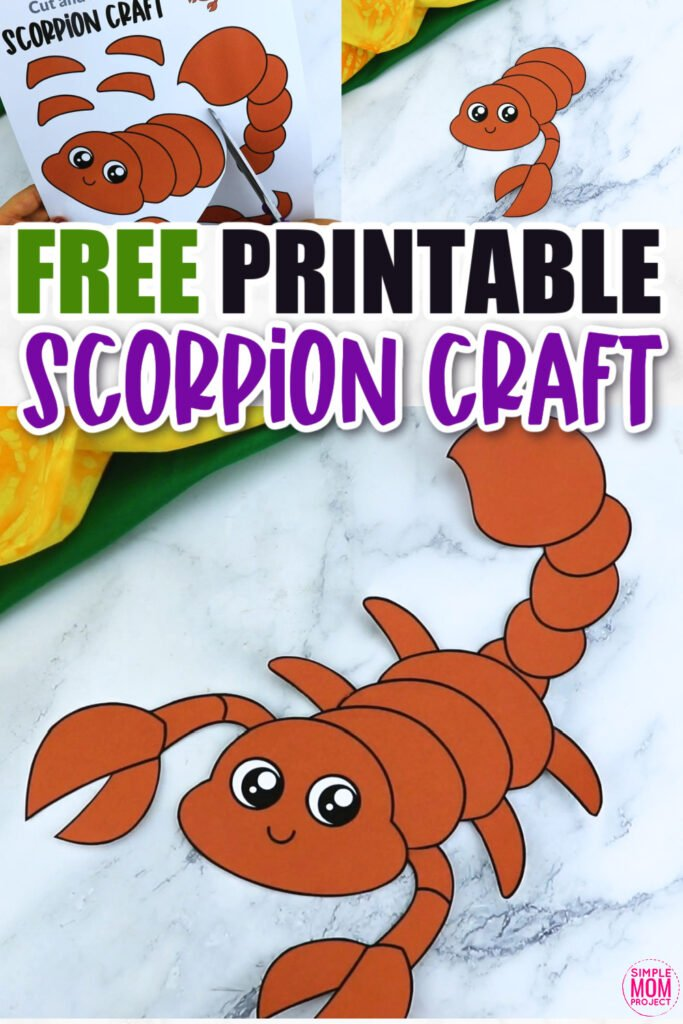 Click now for a simple way to teach the letter S in the alphabet, click now to download and print this scorpion craft today! This bug craft is an easy preschool, kindergarten or toddler printable scorpion craft! Turn it into a black or hairy scorpion puppet activity with a toilet paper roll or clothespin. Options for this scorpion craft are endless!