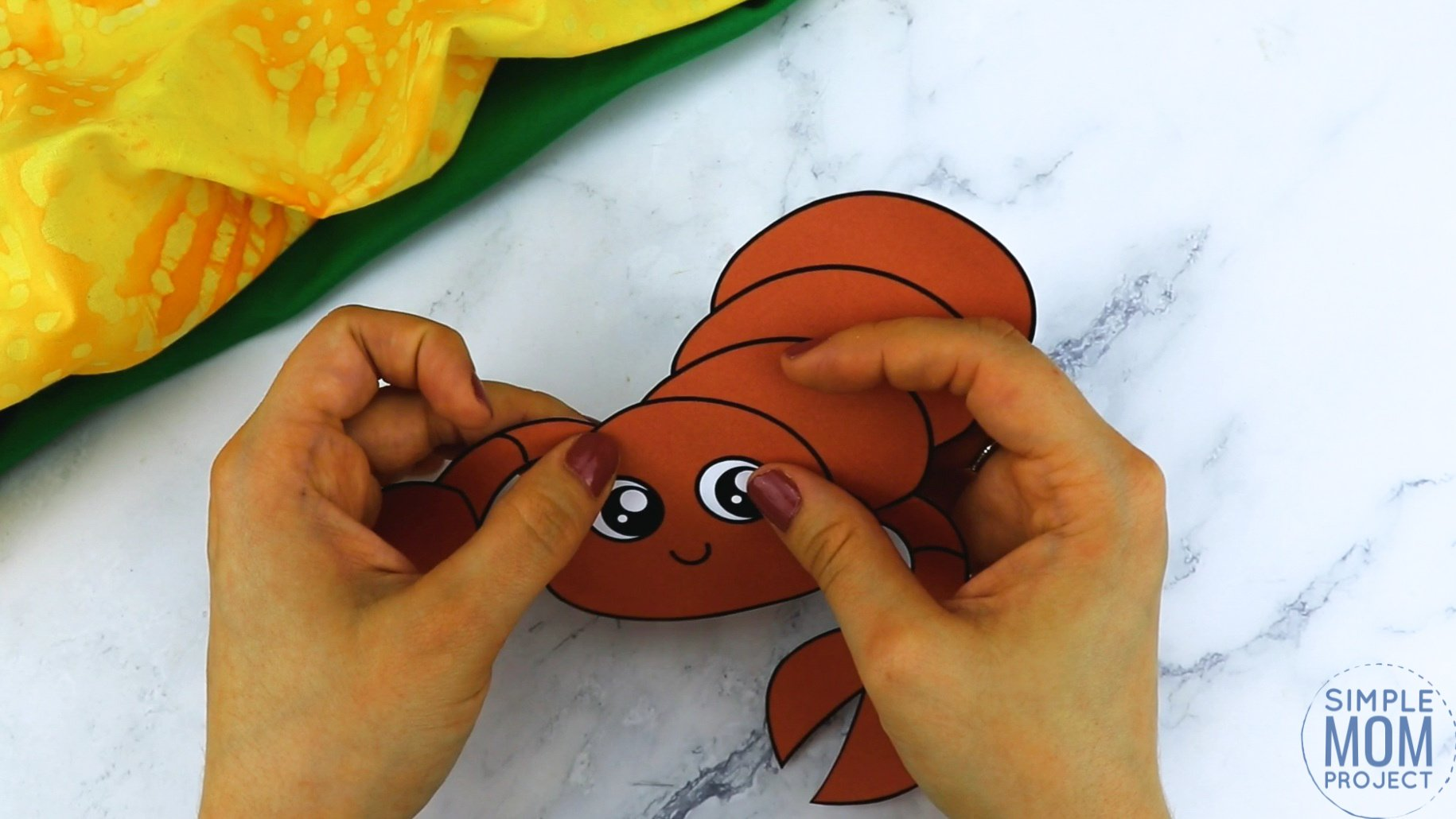 Free Printable Scorpion Craft for Kids, preschoolers and toddlers