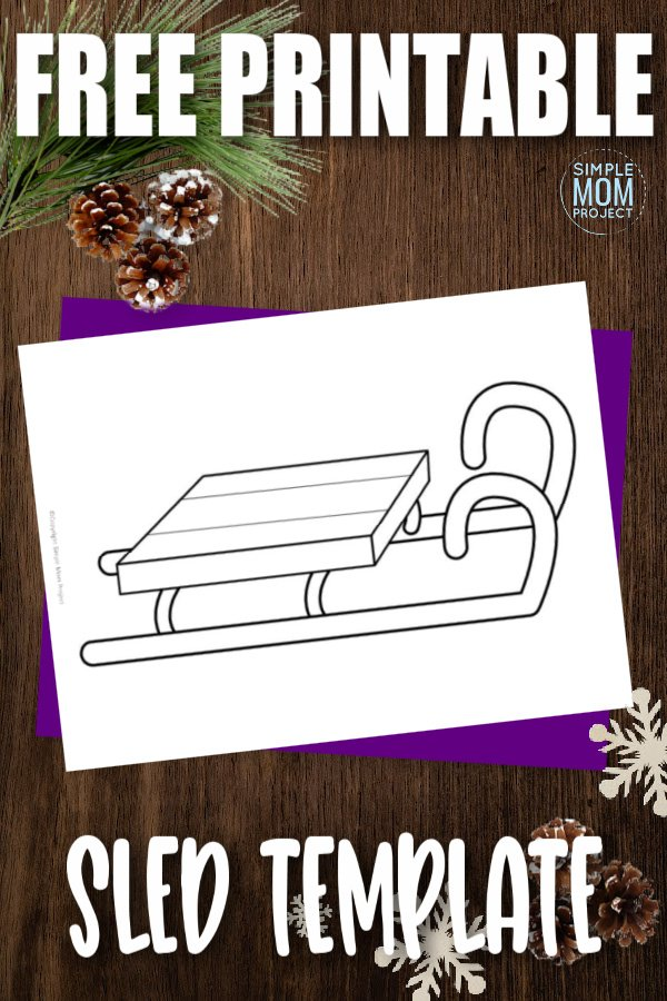 Do your kids love the snow? Do they like riding in a sled? Before you go on your next winter wonderland sleigh ride, why not color your own first? The free printable sled template is a great way to decorate your mantel for the winter! Click now to download and print the free sled template today!