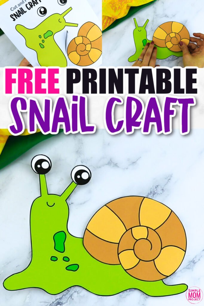 Click now for a simple way to teach the letter S in the alphabet, click now to download and print this spiral snail craft today! This garden craft is an easy preschool, kindergarten or toddler printable snail craft! Turn it into a spring snail puppet activity with a toilet paper roll or clothespin. Options for this snail craft are endless!