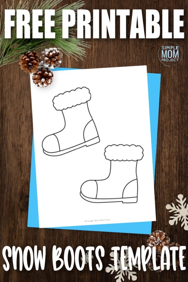 Do your kids love dressing up in their favorite winter clothes? Are you able to get them to wear snow boots? If you have troubles, try using this free printable snow boots template as a fun coloring page activity. With their gloves, scarf and mittens ready, they will have a blast outside and in with this free printable snow and winter hat template.