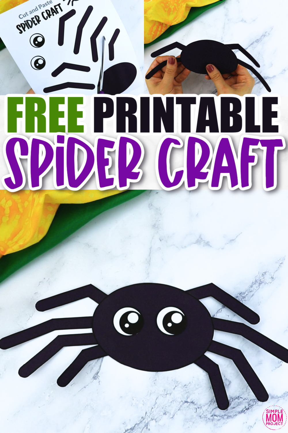 Click now for a simple way to teach the letter S in the alphabet or the number 8, click now to download and print this easy spider craft today! This paper spider craft is an easy preschool, kindergarten or toddler printable spider craft! Turn it into a spider puppet activity with a toilet paper roll or clothespin. Options for this spider craft are endless!