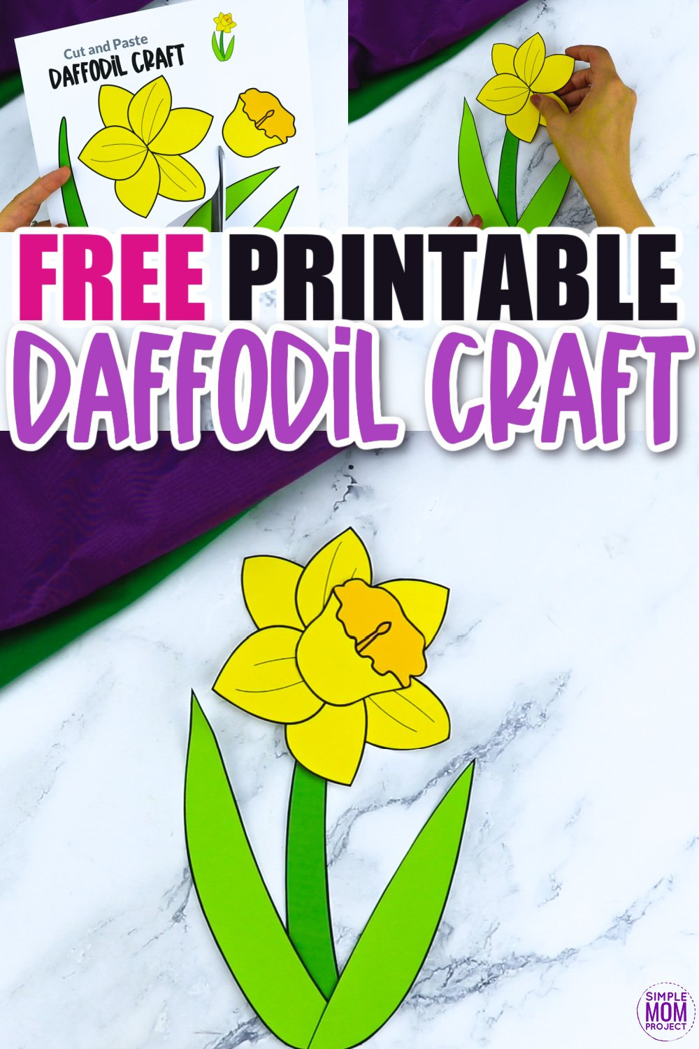 Are you looking for a fun flower craft to do with your kids? This spring daffodil flower template is a perfect craft to do with your kindergartners, preschoolers and toddlers this spring. Paint them, color them or turn them into a beautiful flower greeting card!