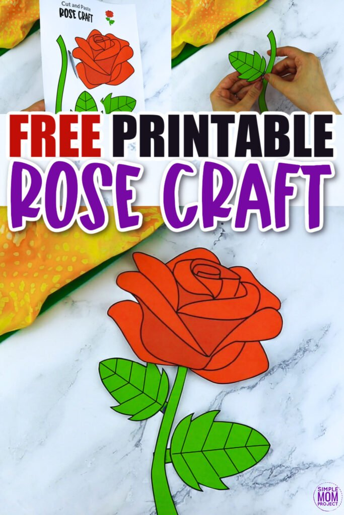 Are you looking for a step by step red rose craft to make with your preschool class? This easy flower rose craft is great for handmade cards, teaching about the letter R and many other fun spring rose activities. Click now to download and print your rose craft template today!