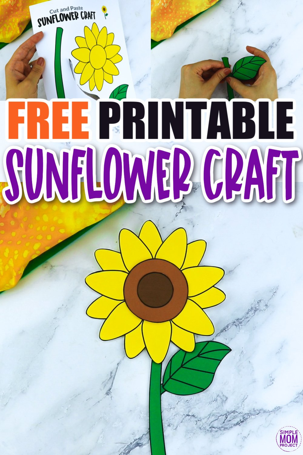 Are you looking for a step by step sunflower craft to make with your preschool class? This easy flower sunflower craft is great for handmade cards, teaching about the letter S and many other fun spring sunflower activities. Click now to download and print your sunflower craft template today!