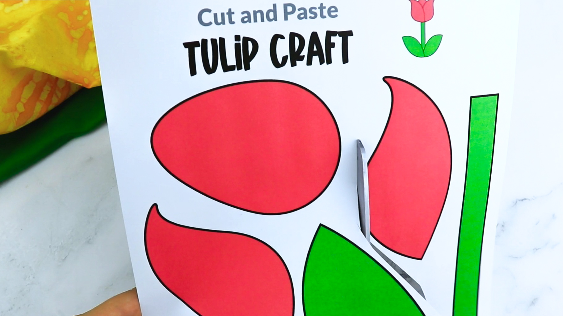 Free Printable Tulip Craft for Kids, preschoolers and toddlers
