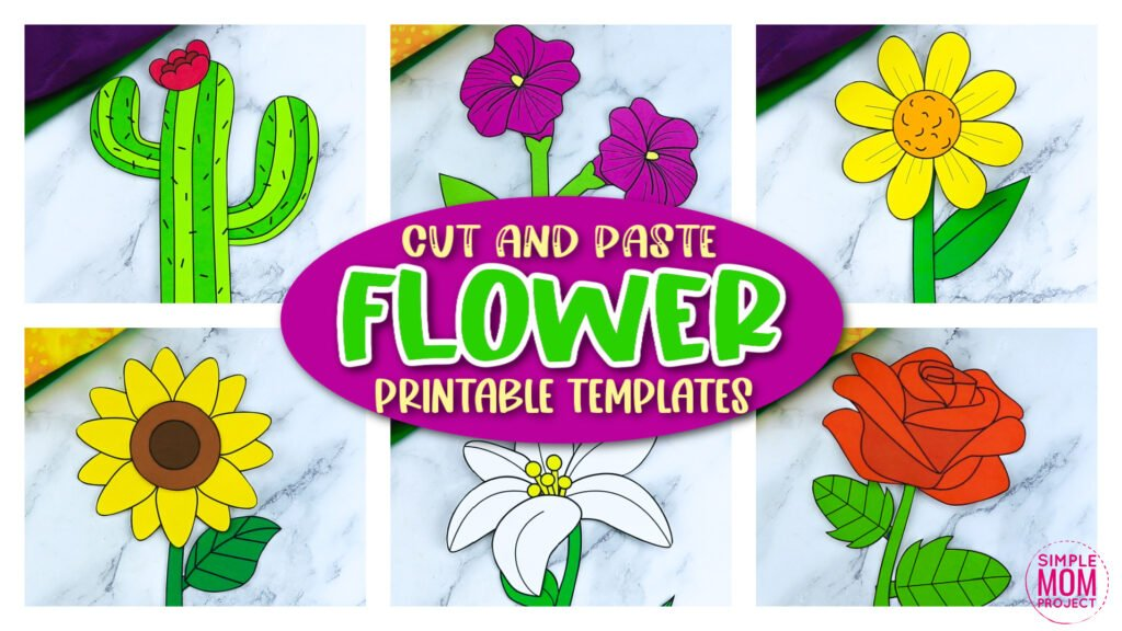 Looking for the easy flower crafts for your preschoolers or toddlers? These cute flower crafts have fun cut and paste flower templates to keep toddlers, preschoolers or even big kids amused for hours! Including our popular rose craft, sunflower craft and daisy craft and many more these are sure to be a big hit with your kids for fun craft activities or even homeschooling lessons. Click now to grab these awesome flower craft templates today.