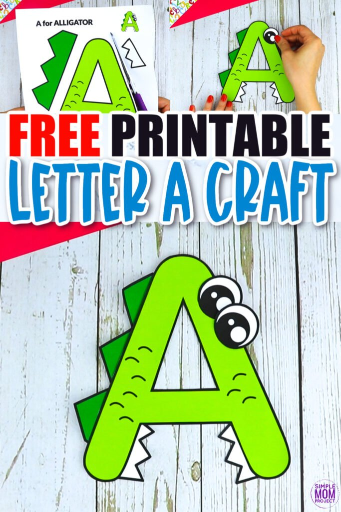 Are you looking for a fun and creative way to teach the uppercase letter A? Use this fun preschool free printable alligator letter A craft. It is an easy way to make learning simple and fun at the same time. Your kindergarten students will also love making this fun printable letter A alligator craft.