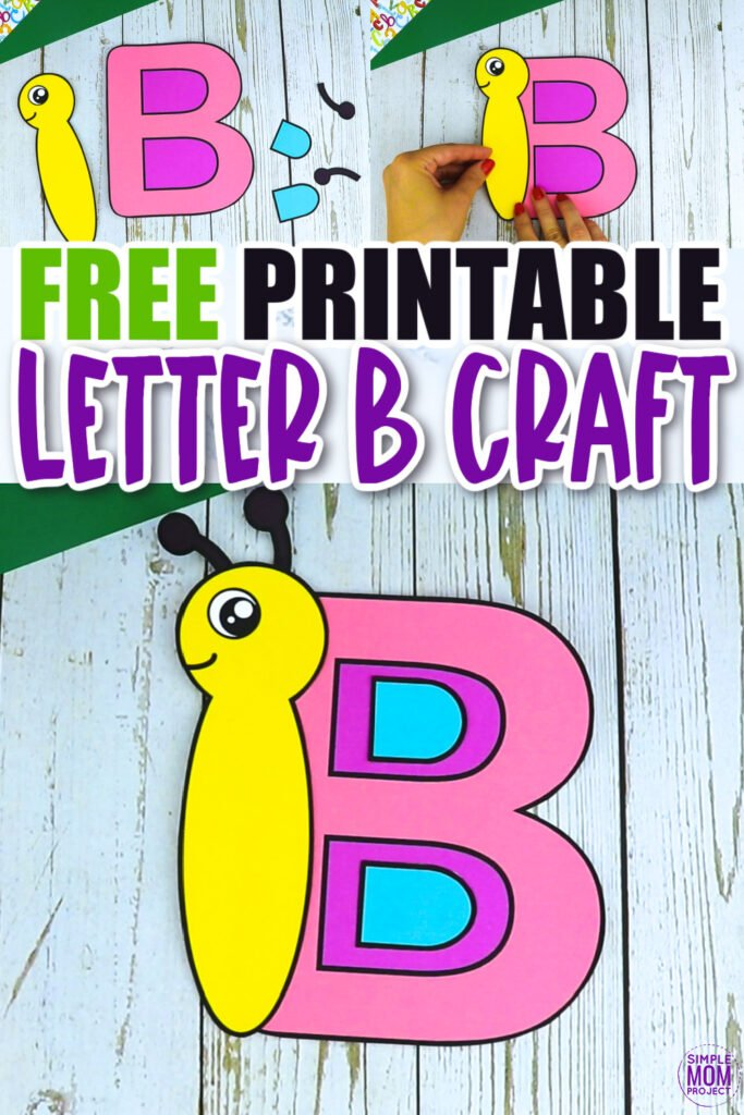 Are you looking for a fun and creative way to teach the uppercase letter B? Use this fun preschool free printable Butterfly letter B art craft. It is an easy way to make learning simple and fun at the same time. Your kindergarten students will also love making this fun printable letter B butterfly craft.