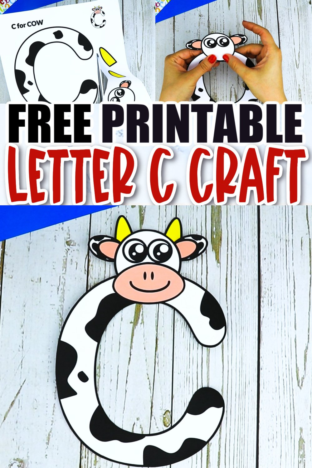 Are you looking for a fun, cute and creative way to teach the uppercase letter C? Use this fun preschool free printable cow letter C craft activity. It is an easy way to make learning simple and fun at the same time. Your kindergarten students will also love making this fun printable letter C cow craft.