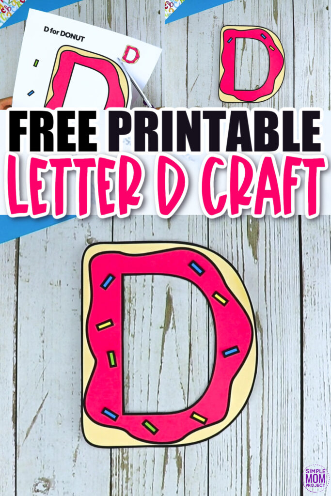 Are you looking for a fun, simple and creative way to teach the uppercase letter D? Use this fun preschool free printable donut letter D craft. It is an easy way to make learning simple and fun at the same time. Your kindergarten students will also love making this fun printable letter D donut craft.