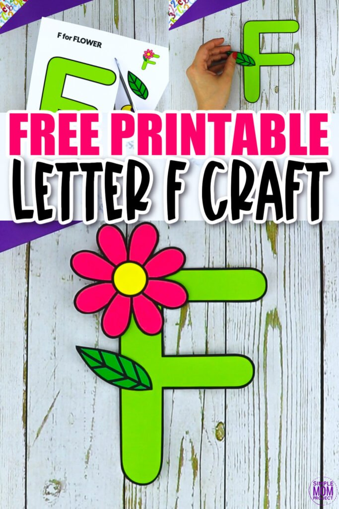 Are you looking for a fun and creative way to teach the uppercase letter F? Use this fun preschool free printable flower letter F learning craft activities. It is an easy way to make learning simple and fun at the same time. Your kindergarten students will also love making this fun printable letter F is for flower craft.