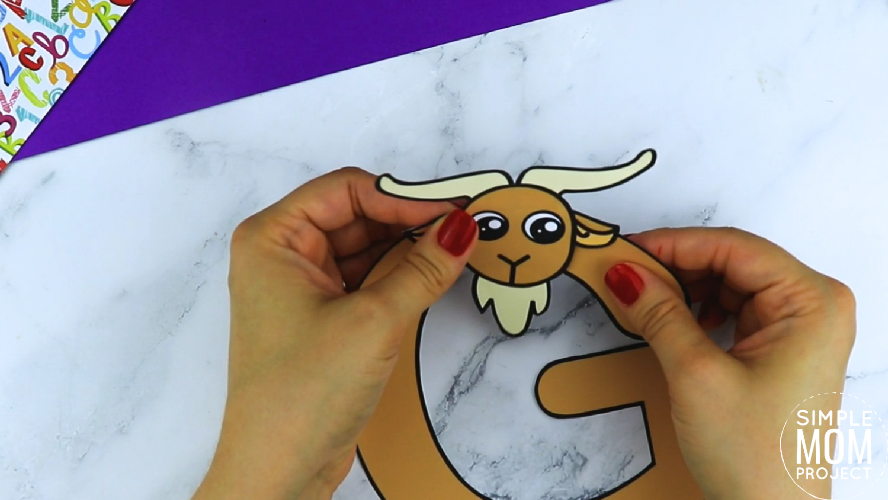 G is for Goat Printable Craft Goat Letter G Craft for Kids, preschoolers, toddlers and kindergartners