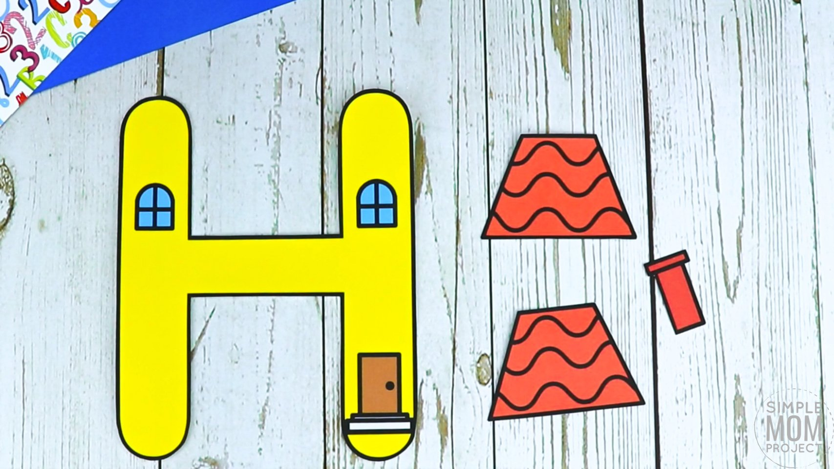 H is for House Printable Craft Letter H Craft for Kids, preschoolers, toddlers and kindergartners