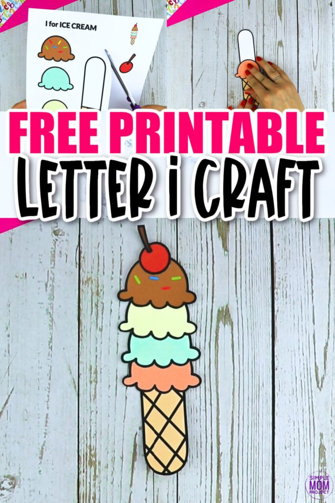 Are you looking for a fun and creative way to teach the uppercase letter I to your preschool or simply your kinder class? Use this fun preschool free printable ice cream letter i craft. It is an easy way to make learning simple and fun at the same time. Your kindergarten students will also love making this fun printable letter I for a fun and printable ice cream craft when they go back to school!