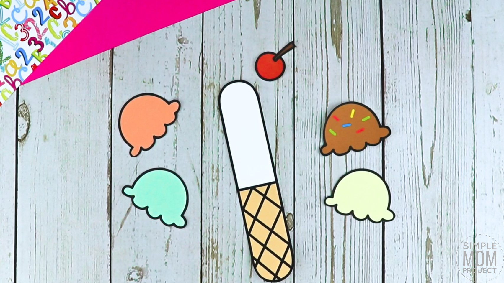 I is for Ice Cream Printable Craft Ice Cream Letter I Craft for Kids, preschoolers, toddlers and kindergartners