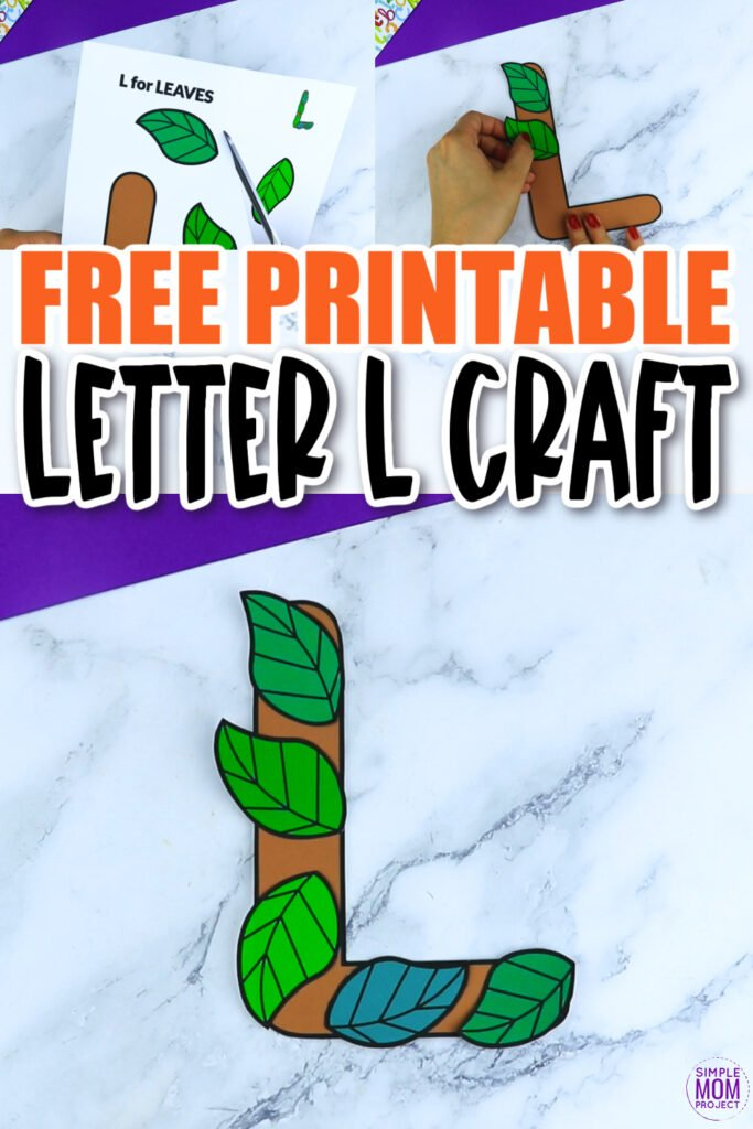 Are you looking for a fun and easy way to teach the alphabet uppercase letter L? Use this fun preschool free printable letter L is for leaf learning craft activities. Grab other things that start with the letter L, like a lollipop, ladybug, their favorite llama or leopard toy as you make this easy letter L is for leaf craft. Your kindergarten students will also love making this fun printable letter L is for leaf.