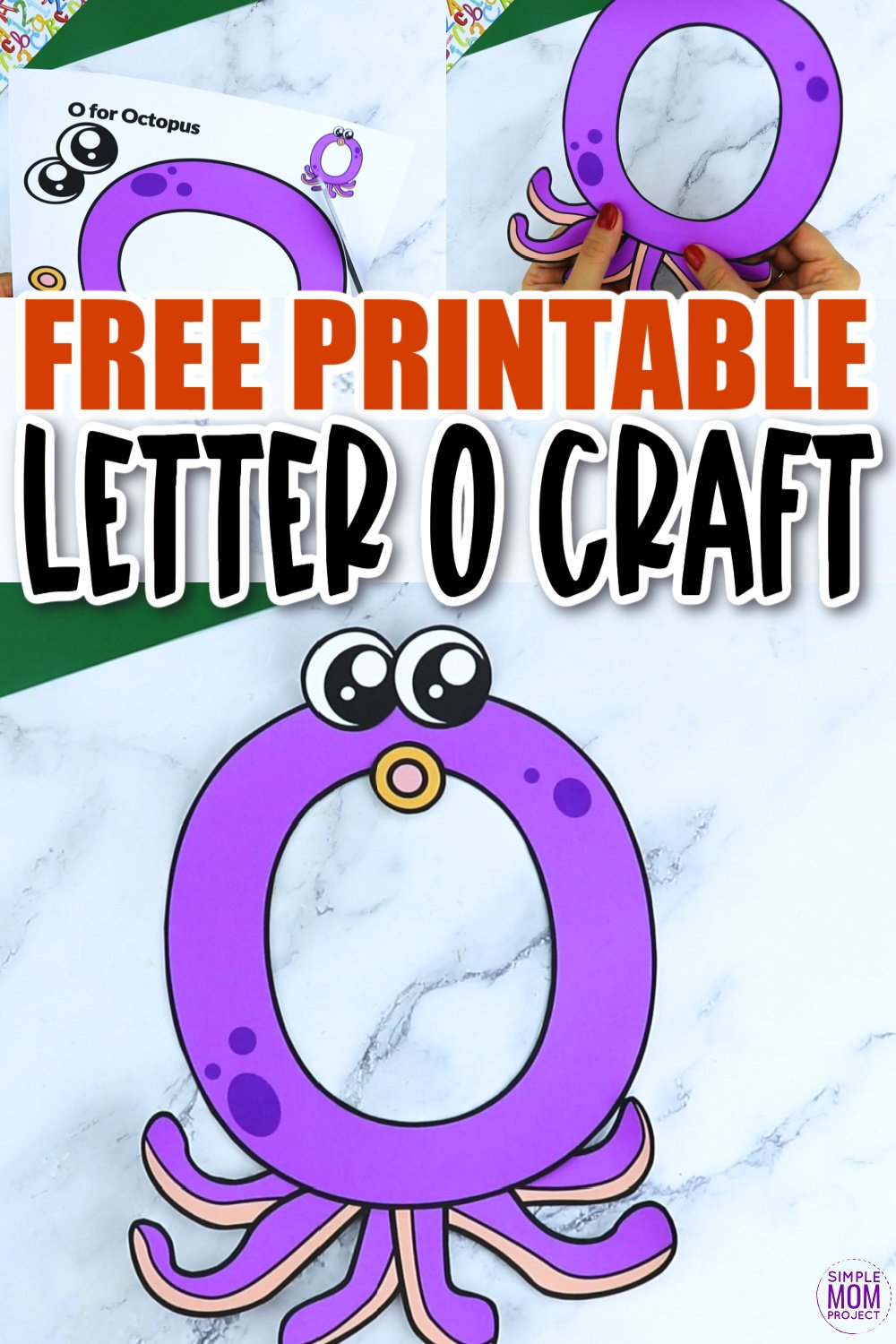 O is for Octopus Printable Craft Octopus Letter O Craft for Kids, preschoolers, toddlers and kindergartners