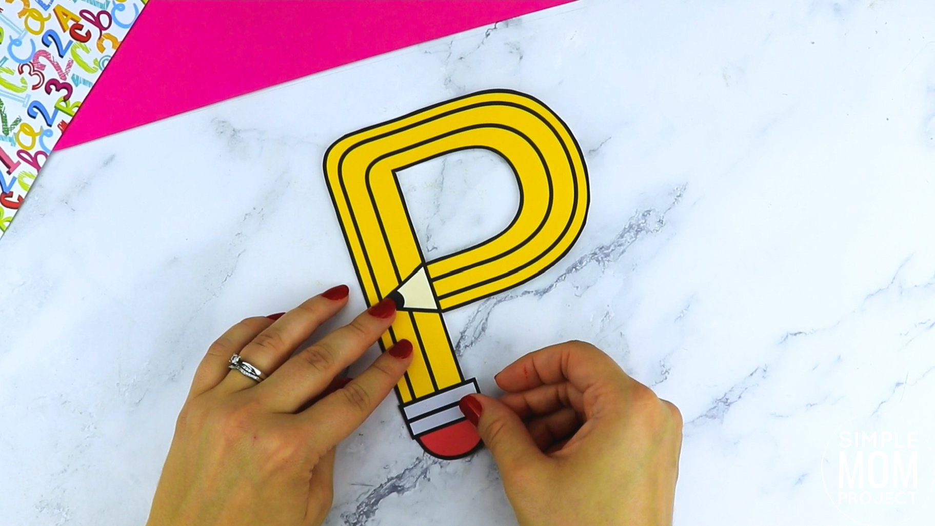 P is for Pencil Printable Craft Pencil Letter P Craft for Kids, preschoolers, toddlers and kindergartners