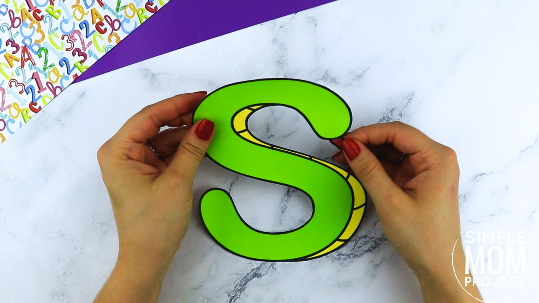 S is for Snake Printable Craft Snake Letter S Craft for Kids, preschoolers, toddlers and kindergartners