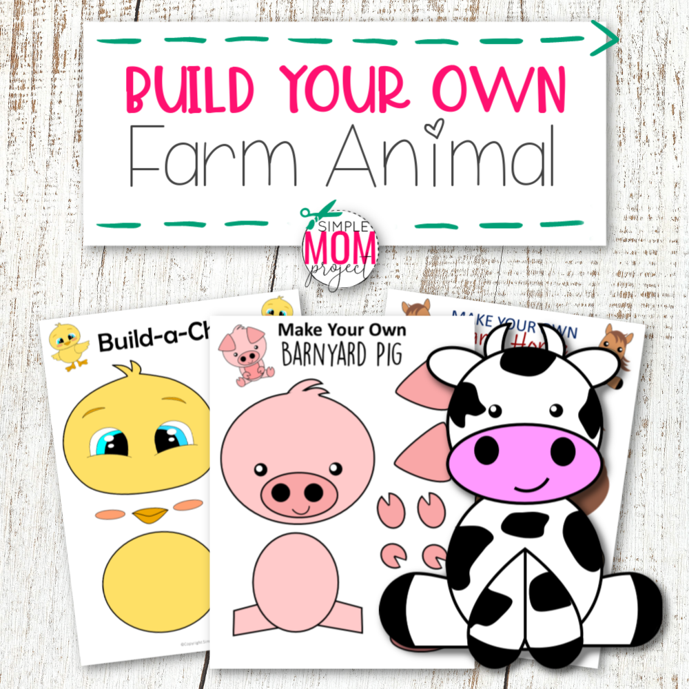 Printable Farm Animal Crafts for Kids of All Ages including preschoolers and toddlers