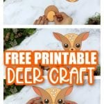 Are you looking for a simple way to teach the letter D to your preschoolers this winter? Click now to get this free printable deer template to make this cute cut out and paste woodland deer craft! He is perfect for kids of all ages including toddlers and kindergartners! #deer #deercrafts #woodland #woodlandanimals #winteranimals #LetterD #SimpleMomProject