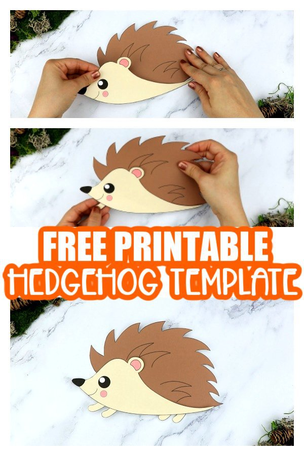 Free Printable Cut And Paste Hedgehog Craft For Kids Simple Mom Project
