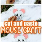 Are you looking for a simple way to teach the letter M to your preschoolers this summer? Click now to get this free printable mouse template to make this cute cut out and paste woodland mouse craft! He is perfect for kids of all ages including toddlers and kindergartners to learn a part of the alphabet! #mouse #mousecrafts #woodland #woodlandanimals #winteranimals #LetterM #SimpleMomProject