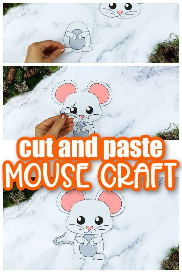 Printable Forest Mouse Craft Template for kids, preschoolers, toddlers and kindergartners