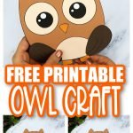 Are you looking for a simple way to teach the letter O to your preschoolers this autumn? Click now to get this free printable owl template to make this cute cut out and paste woodland owl craft! He is perfect for kids of all ages including toddlers and kindergartners! You could even use this template in your next fabric sewing craft! #owl #owlcrafts #woodland #woodlandanimals #fallanimalcrafts #LetterO #SimpleMomProject