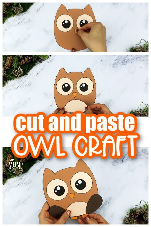Printable Forest Owl Craft Template for kids, preschoolers, toddlers and kindergartners