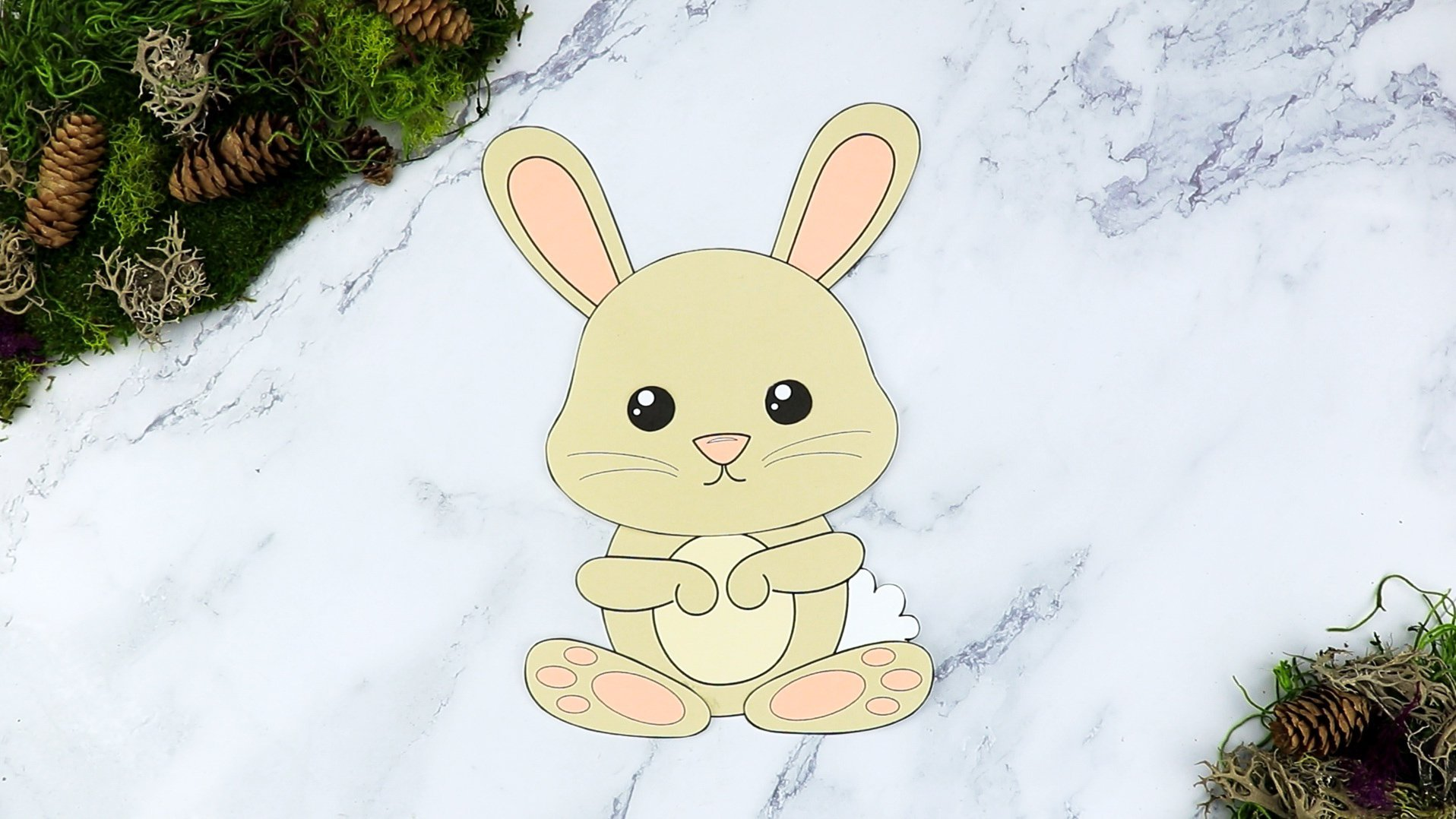 Free Printable Forest Rabbit Craft Template for kids, preschoolers, toddlers and kindergartners